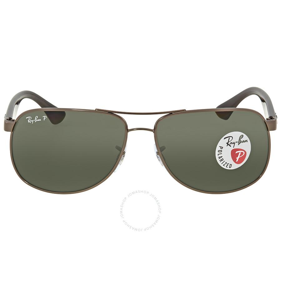 32a4c59430b Ray Ban Polarized Green Classic G-15 Rectangular Men s Sunglasses RB3502 004  58 61 ...