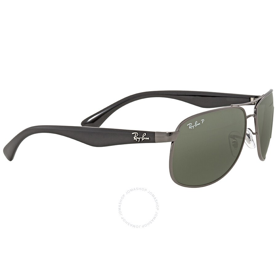 7605befa40 ... Ray Ban Polarized Green Classic G-15 Rectangular Men s Sunglasses RB3502  004 58 61 ...