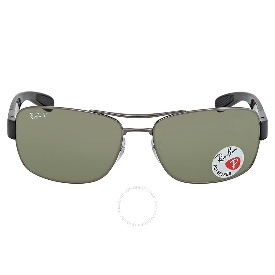 3990bef76ed ... Ray Ban Polarized Green Classic G-15 Rectangular Men s Sunglasses RB3522  004 9A 61 ...