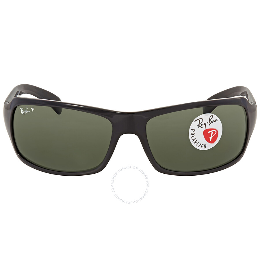 91ad2fab899 Ray Ban Polarized Green Classic G-15 Rectangular Sunglasses RB4075 60158 61  ...