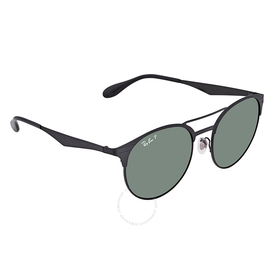 41ef7a952c Ray Ban Polarized Green Classic G-15 Round Sunglasses RB3545 186 9A 54 ...