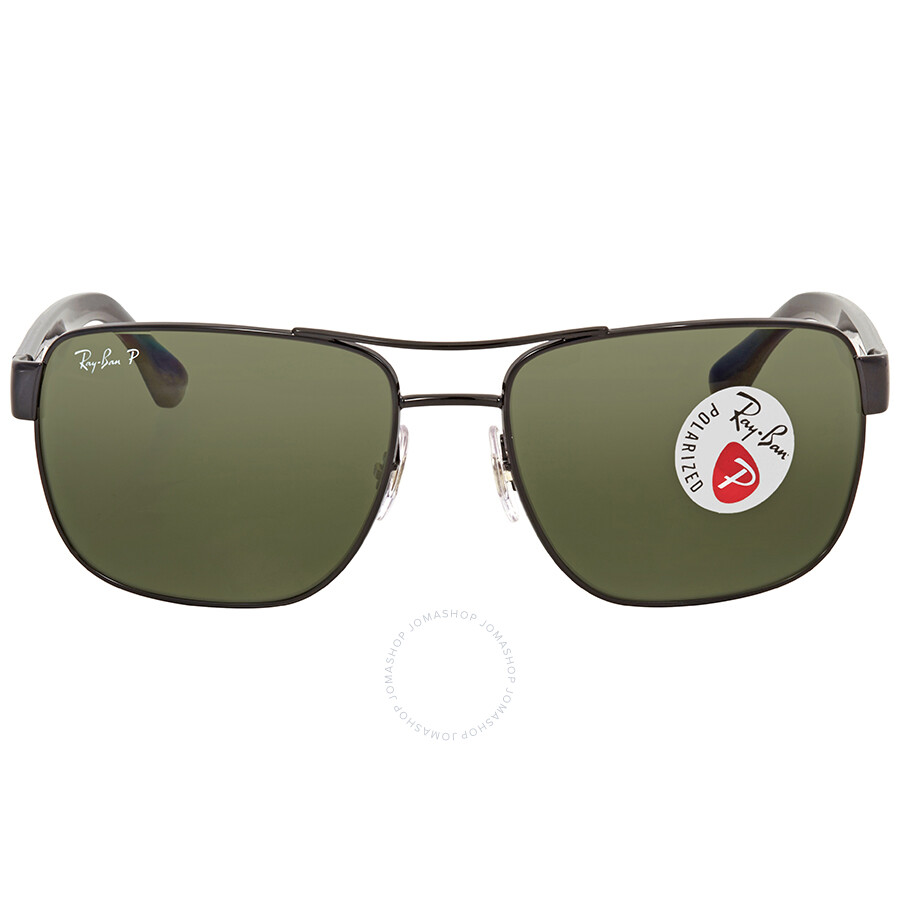 d6a8b19918329 Ray Ban Polarized Green Classic G-15 Square Men s Sunglasses RB3530 002 9A  58 ...