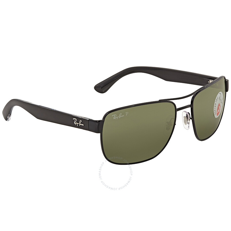 18657ca045 ... Ray Ban Polarized Green Classic G-15 Square Men s Sunglasses RB3530 002  9A 58 ...