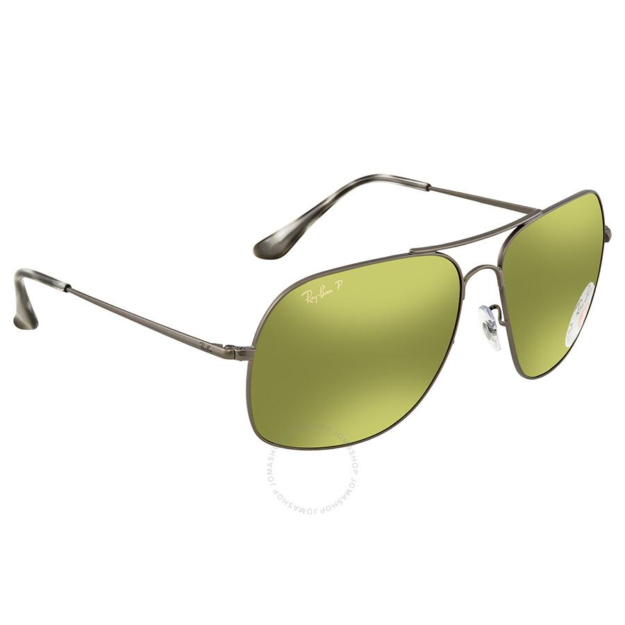 5aa1c24c7b Ray Ban Polarized Green Mirror Chromance Square Sunglasses RB3587CH 029 6O  61 ...