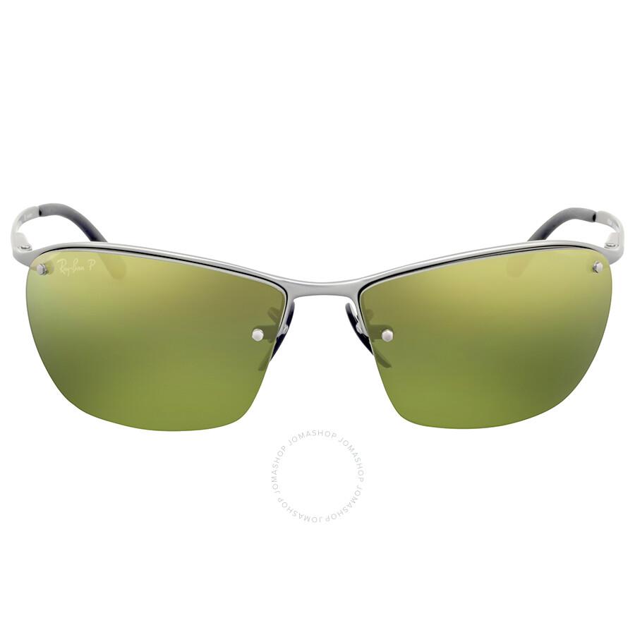 4e21266a632 Ray Ban Polarized Green Mirror Chromance Sunglasses Item No. RB3544 029 6O  64