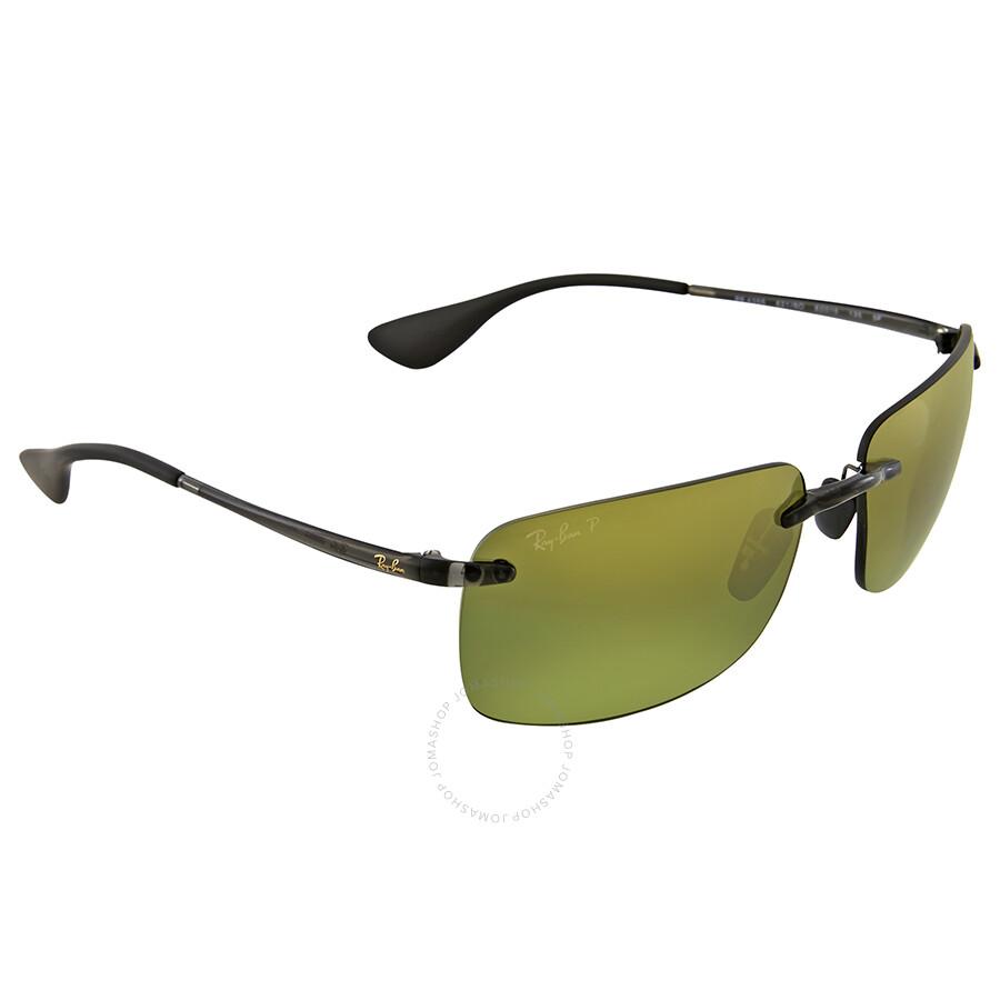 98ecf0c9d3 Ray Ban Polarized Green Mirror Sunglasses - Sunglasses - Jomashop