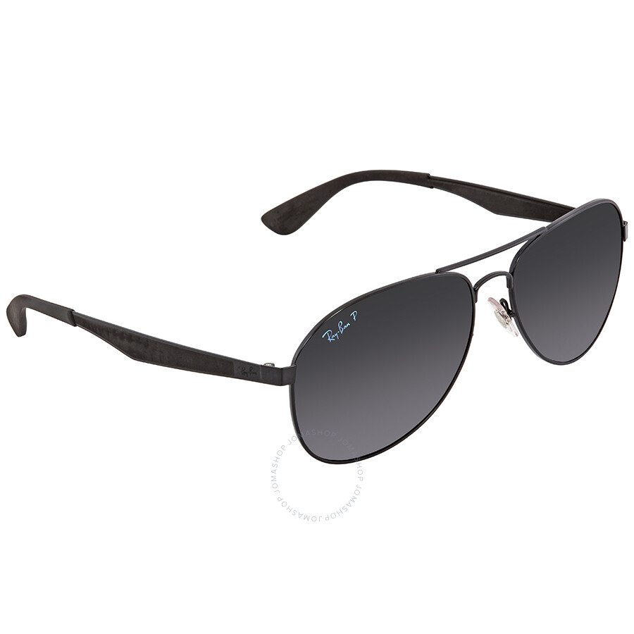 2fea210cc64 Ray Ban Polarized Dark Grey Gradient Aviator Sunglasses RB3549 002 T3 61 ...
