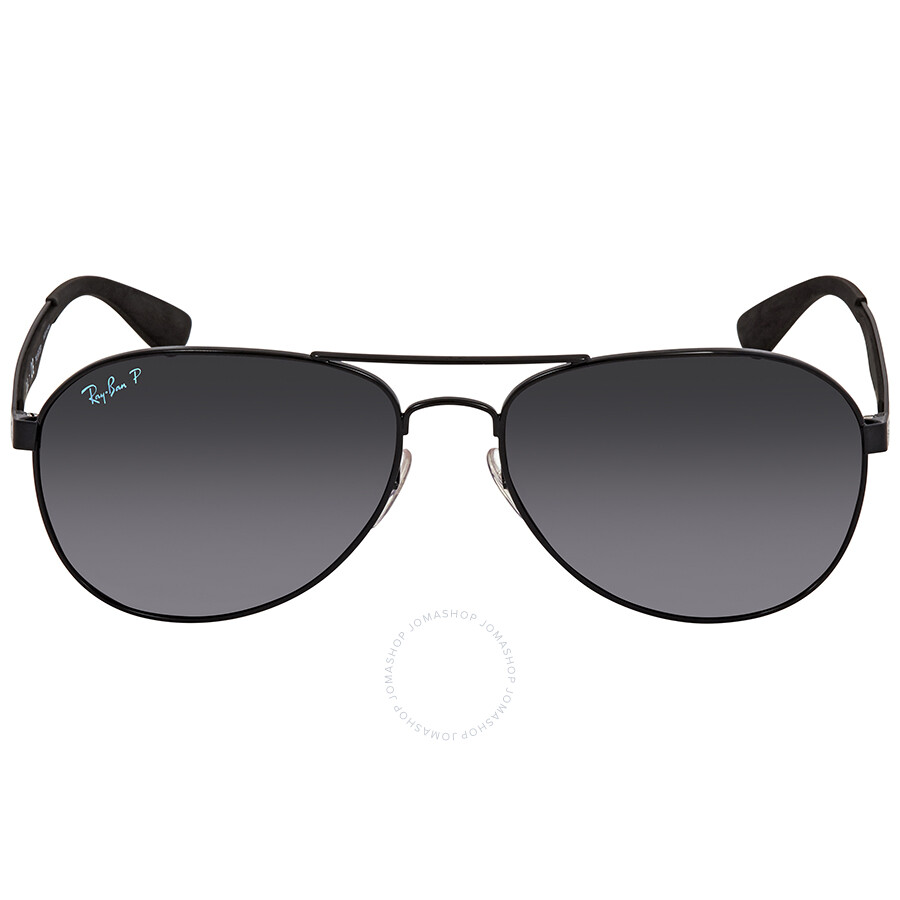 036af3f422f ... Ray Ban Polarized Dark Grey Gradient Aviator Sunglasses RB3549 002 T3  61 ...
