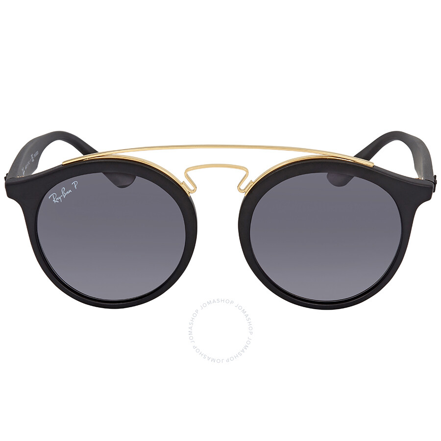 ae9a9317a20db ... Ray Ban Polarized Grey Gradient Round Sunglasses RB4256 601ST3 49 ...