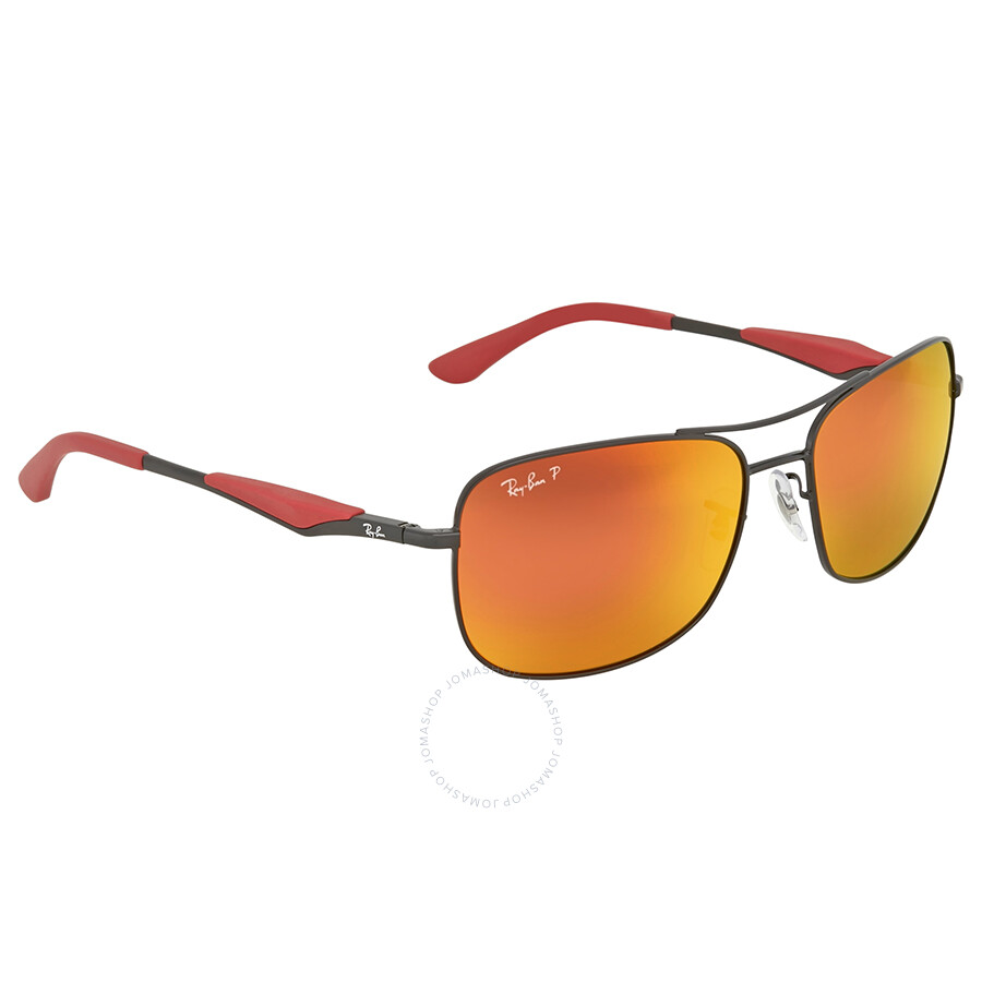 506d94ae02 Ray Ban Polarized Orange Flash Sunglasses Ray Ban Polarized Orange Flash  Sunglasses ...