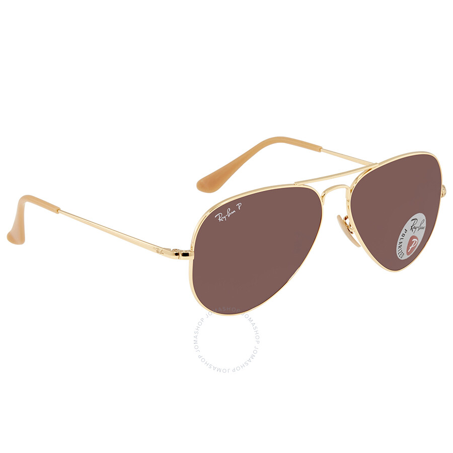 3b3579d53670 Ray Ban Polarized Purple Classic Aviator Sunglasses RB3689 9064AF 58 ...