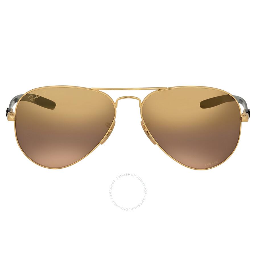 0b2635b885 Ray-Ban Polarized Purple Mirror Aviator Sunglasses - Aviator - Ray ...
