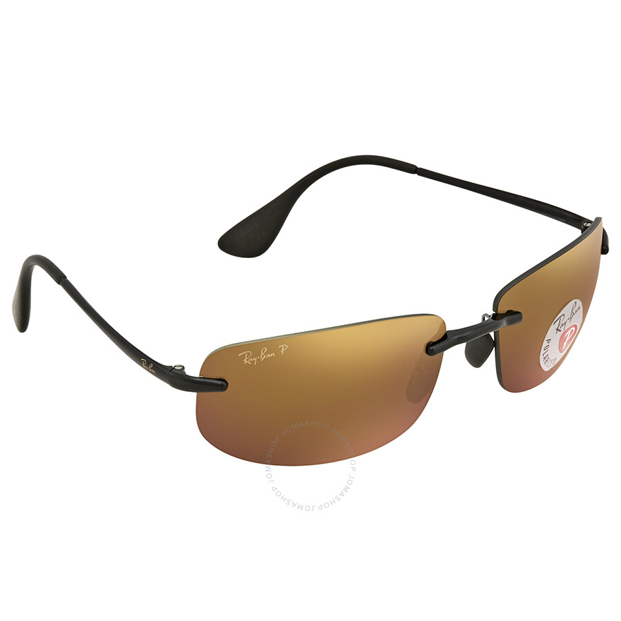 4187c06b5c707 Ray Ban Polarized Purple Mirror Chromance Rectangular Sunglasses RB4254  601 6B 62 ...