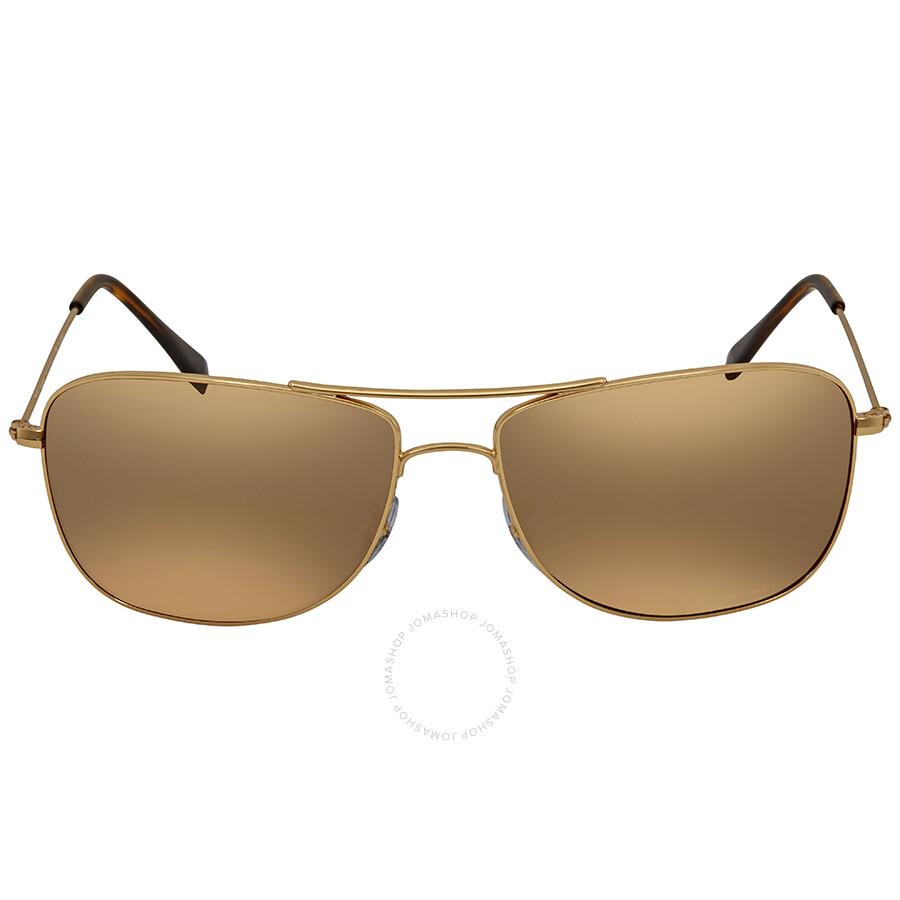 0463a83f85 ... Ray Ban Polarized Purple Mirror Chromance Sunglasses RB3543 001 6B 59  ...