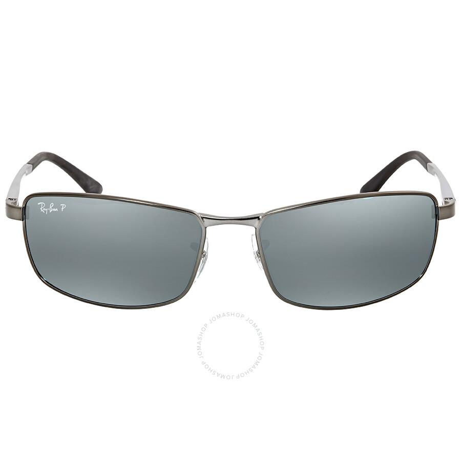 874144eca4c6d2 Ray Ban Polarized Silver Flash Rectangular Men's Sunglasses RB34980 29Y4 61  Item No. RB34980 29Y4 61