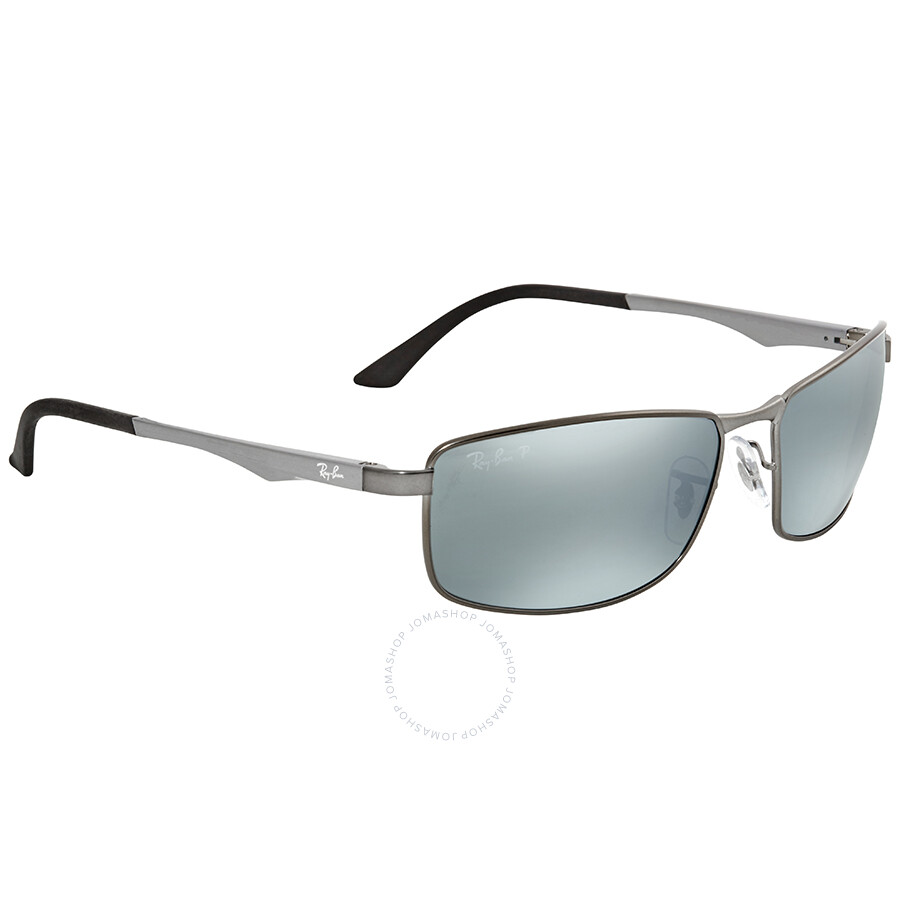 214e09e4bf8 ... Ray Ban Polarized Silver Flash Rectangular Men s Sunglasses RB34980  29Y4 61 ...