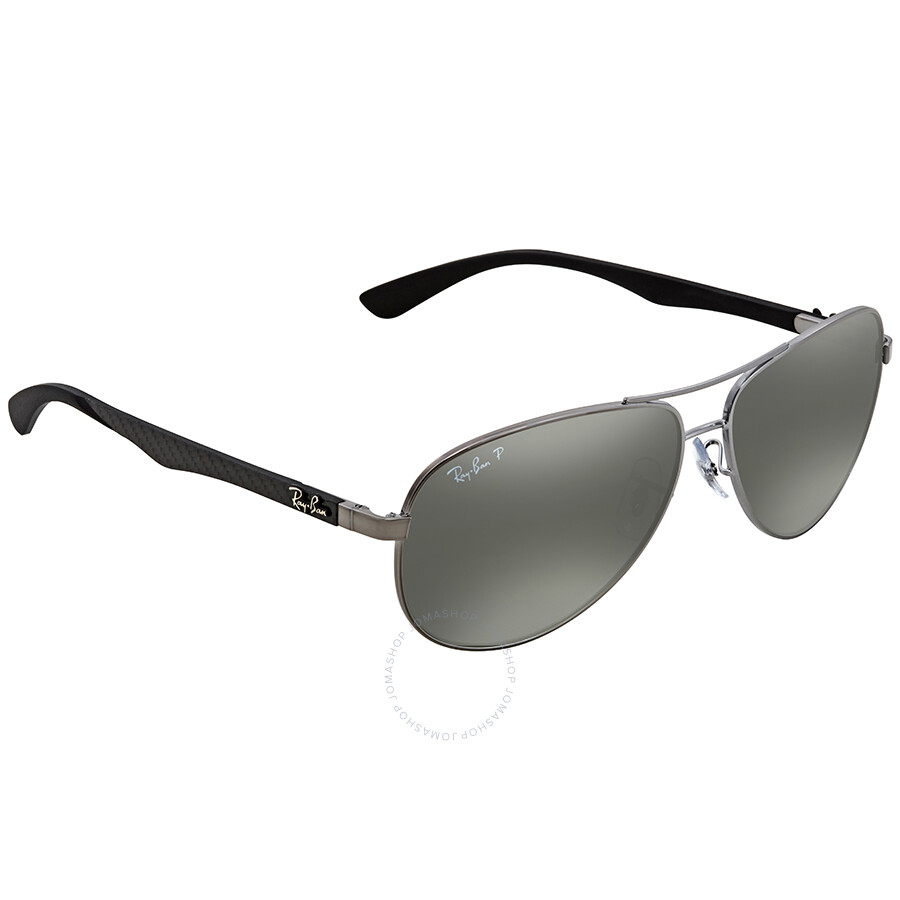 116a4b15710 Ray Ban Polarized Silver Mirror Aviator Men s Sunglasses RB8313 004 K6 61  ...