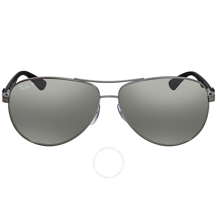 355054977e2 ... Ray Ban Polarized Silver Mirror Aviator Men s Sunglasses RB8313 004 K6  61 ...