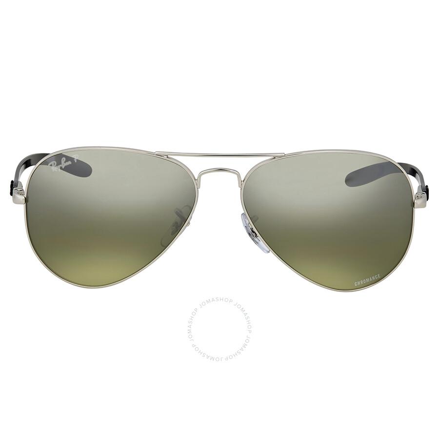 Ray ban polarized silver mirror aviator sunglasses for Ray ban aviator miroir