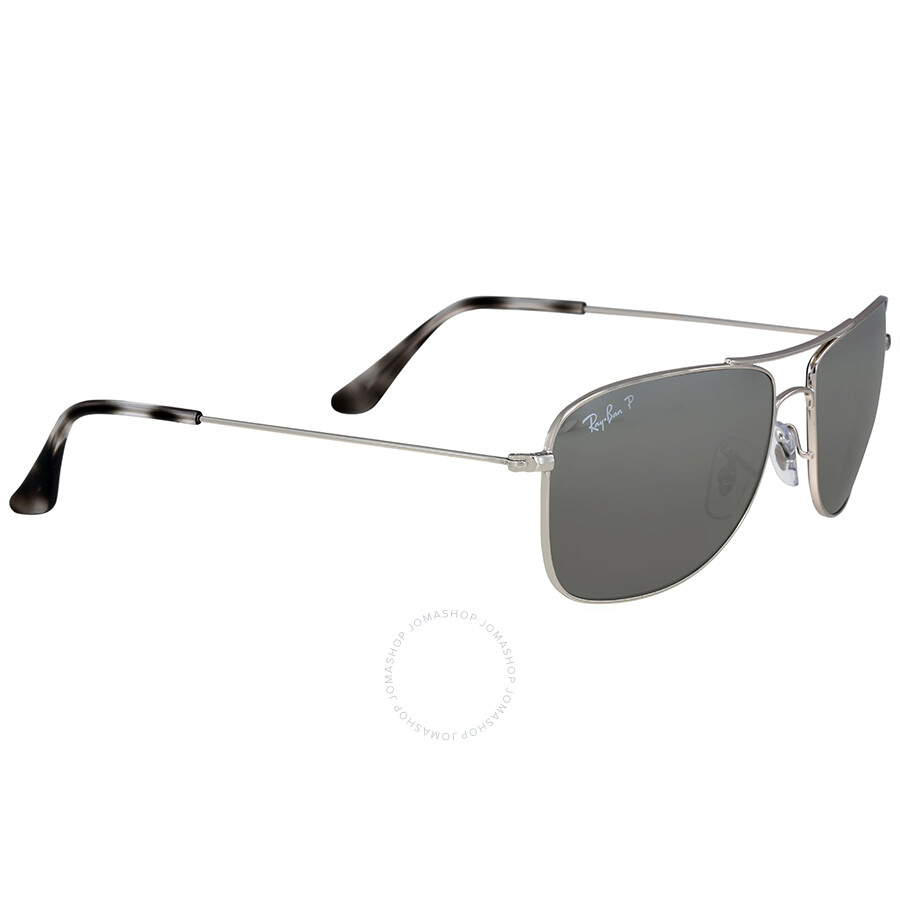 ray ban polarized silver mirror chromance aviator sunglasses ray ban sunglasses jomashop. Black Bedroom Furniture Sets. Home Design Ideas
