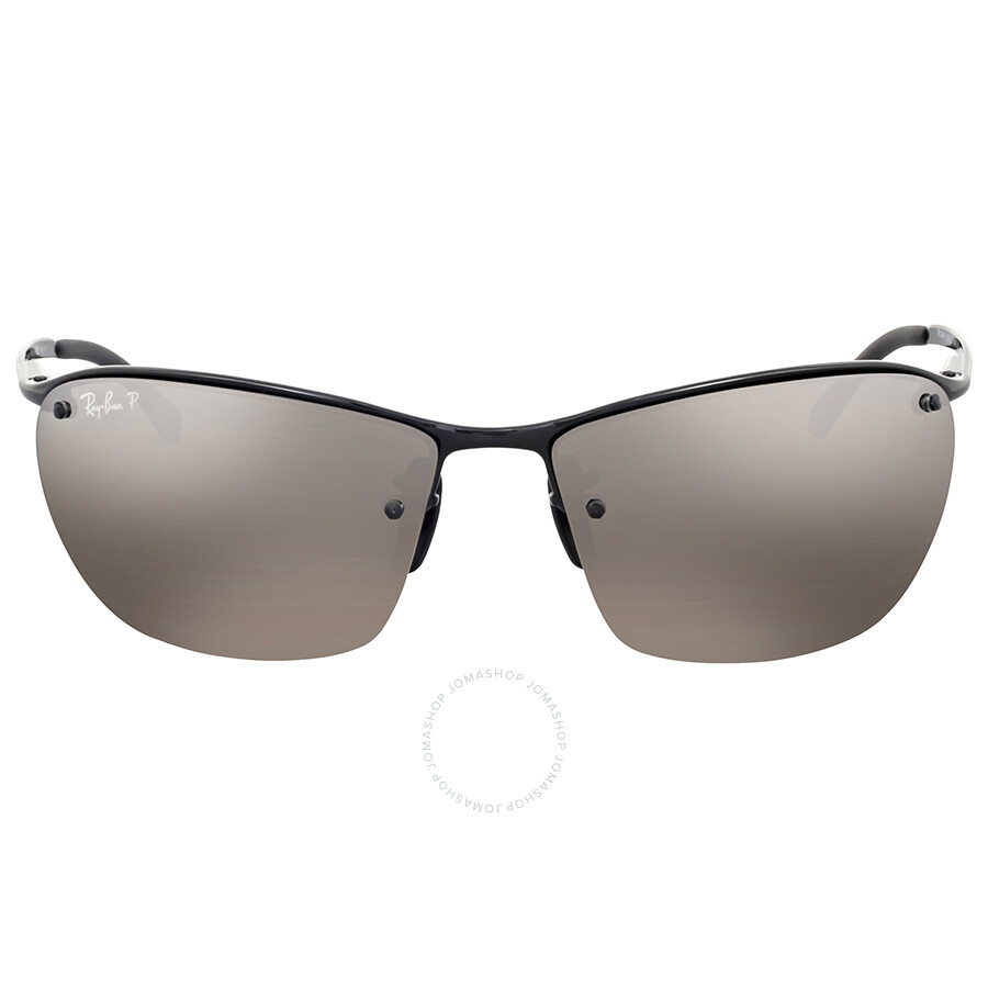 Ray Ban Polarized Silver Mirror Chromance Metal Sunglasses Ray Ban