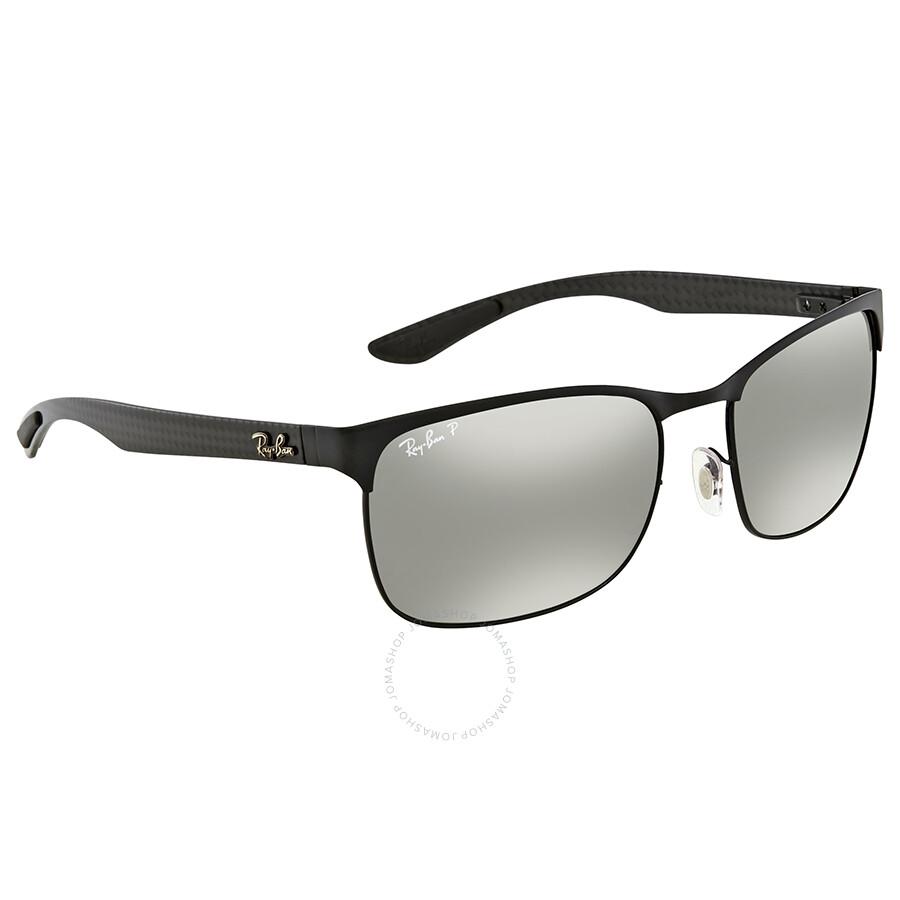 52b8a22d72b Ray Ban Polarized Silver Mirror Chromance Rectangular Sunglasses RB8319CH  186 5J 60 ...
