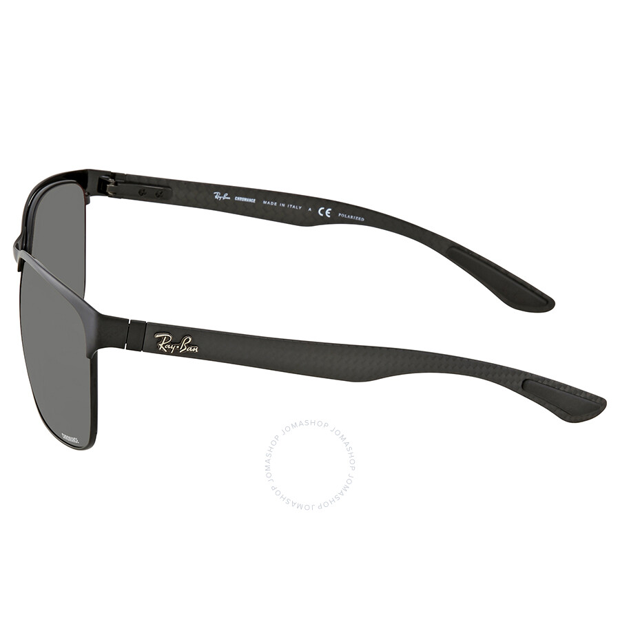 8cd1c28eff ... Ray Ban Polarized Silver Mirror Chromance Rectangular Sunglasses  RB8319CH 186 5J 60