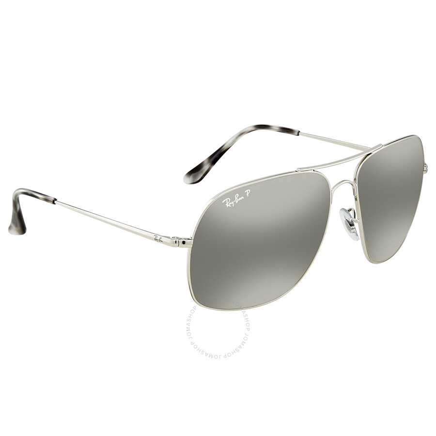 df8a004b0e Ray Ban Polarized Silver Mirror Chromance Square Sunglasses RB3587CH 003 5J  61 ...