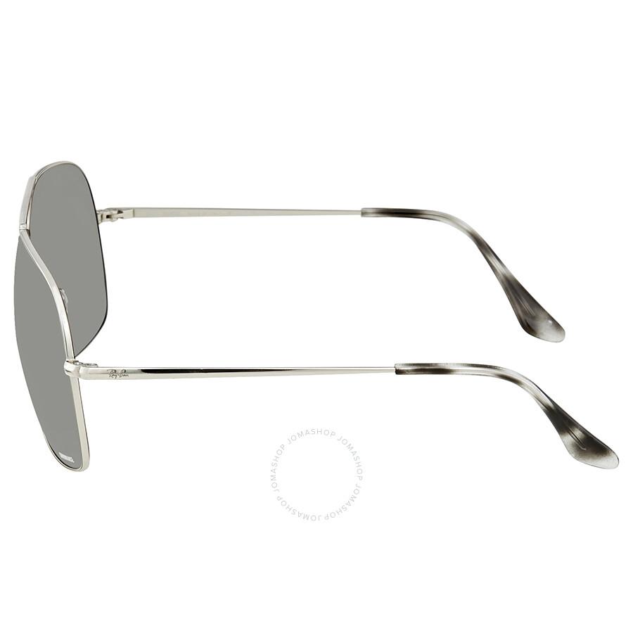 52c083feff ... Ray Ban Polarized Silver Mirror Chromance Square Sunglasses RB3587CH 003  5J 61