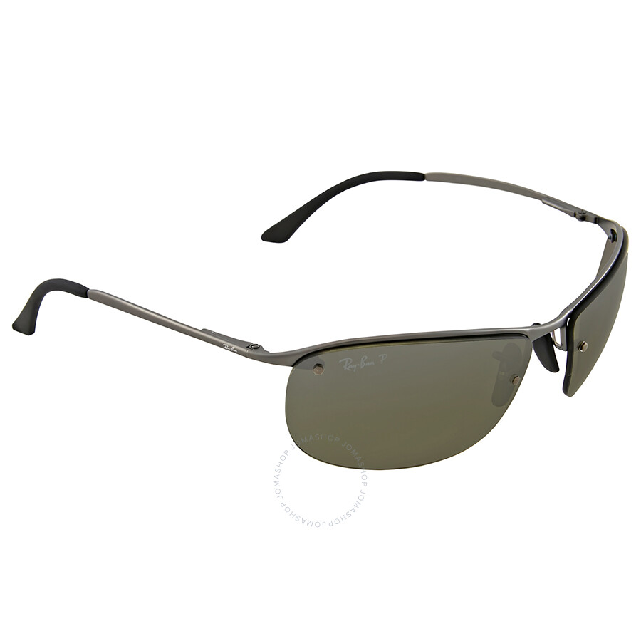 Ray ban polarized silver mirror chromance sunglasses ray for Mirror sunglasses