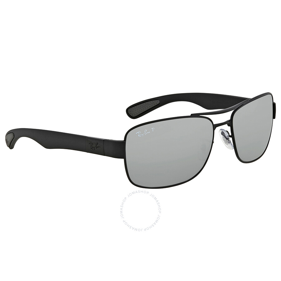 d4303919dd Ray Ban Polarized Silver Mirror Rectangular Men s Sunglasses RB3522 006 82  61 ...
