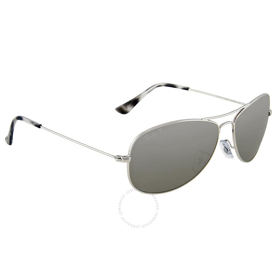 Ray ban polarized silver mirror sunglasses ray ban for Mirror sunglasses
