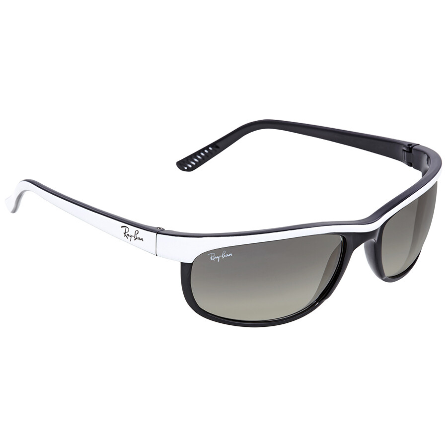 863e59b5abf Ray Ban Predator 2 Clear Gradient Grey Rectangular Sunglasses RB2027 629932  62 ...