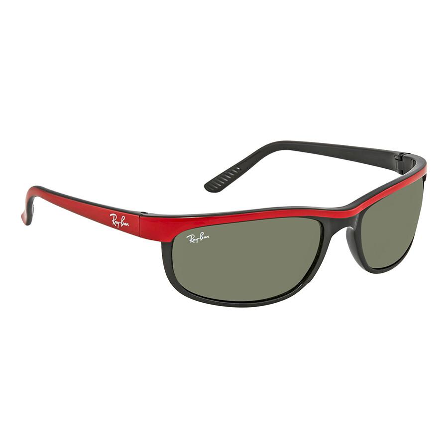 28e448ca521 Ray Ban Predator 2 Green Rectangular Sunglasses RB2027 6300 62 - Ray ...