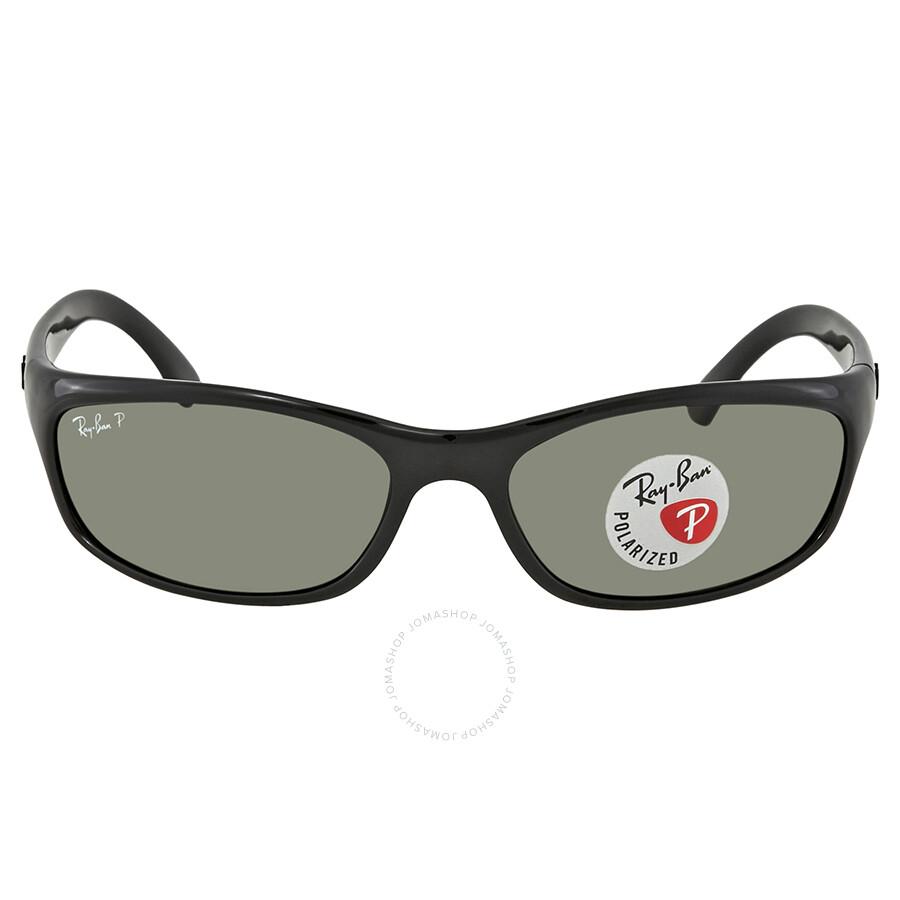 b6cb67df23ee7 ... Ray Ban Predator Polarized Green Rectangular Sunglasses RB4115 6019A 57  ...