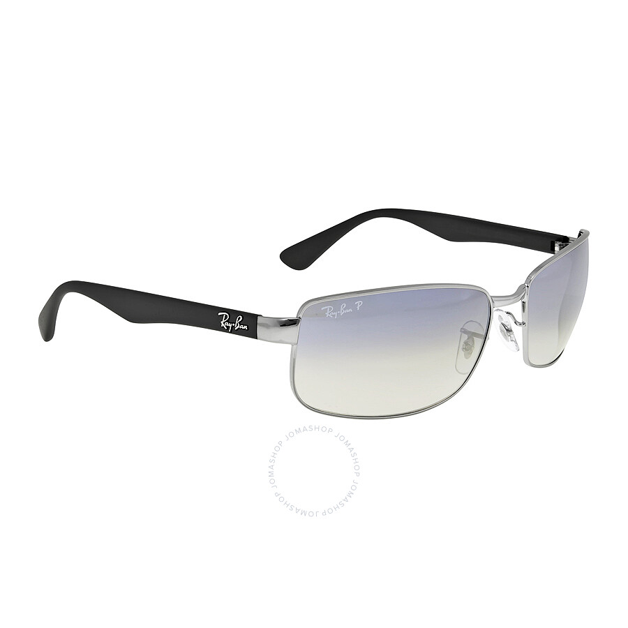 rb3478  Ray Ban RB3478 Polarized Blue/Grey Gradient Men\u0027s Sunglasses ...