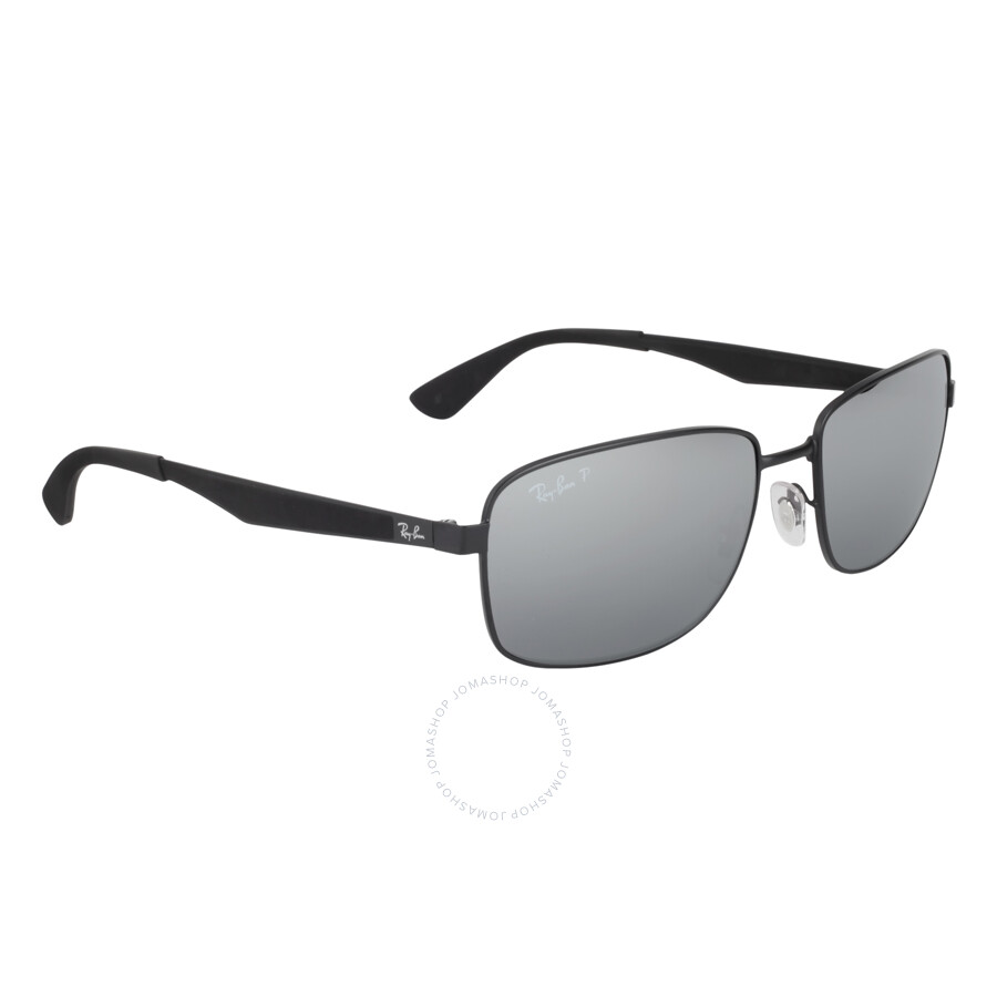 950b6716e4 ... Ray Ban RB3529 Polarized Silver Mirror Men s Sunglasses RB3529 006 82  58-17 ...