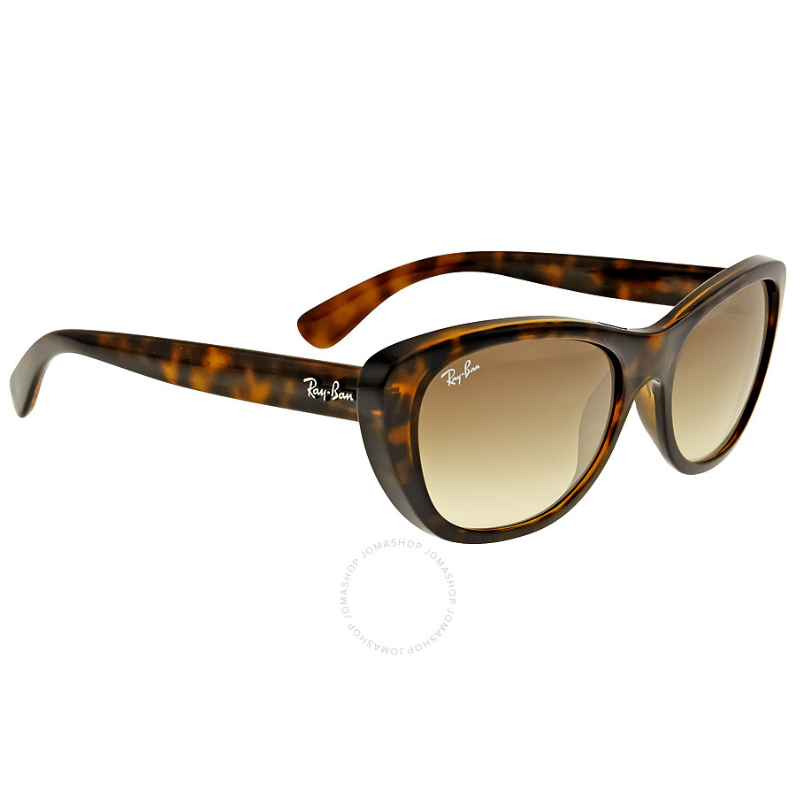 12ae90c8862d ... Ray Ban RB4227 Brown Gradient Ladies Sunglasses RB4227 710/13 55-17 ...