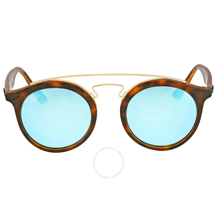 ad909cb086 Ray Ban RB4256 Gatsby I Blue Mirror Sunglasses RB4256 609255 46 ...