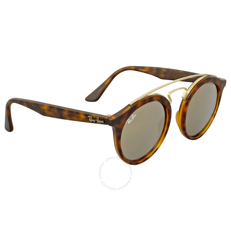 c1dc4b501f ... Ray Ban RB4256 Gatsby I Gold Mirror Sunglasses RB4256 60925A 46 ...