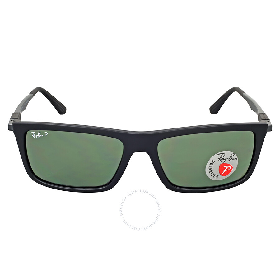 64cbdf48aa Ray-Ban Active Rectangle Polarized Green Classic G-15 Sunglasses RB4214  601S9A 59 ...
