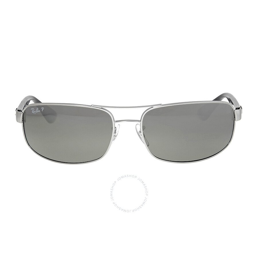 338e4cfe336 Ray-Ban Active Rectangle Polarized Silver Mirror Sunglasses RB3445 005 K3  64 ...