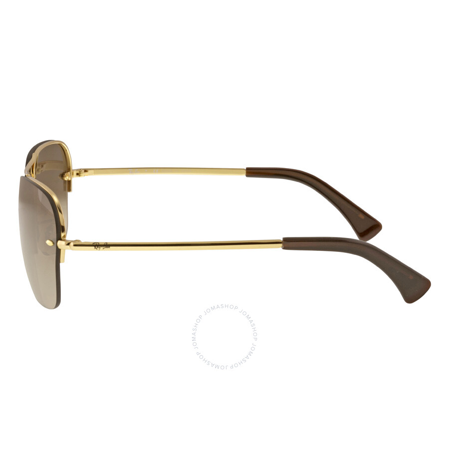 954c83e89920f ... Ray-Ban Rectangular Brown Gradient Lens Sunglasses RB3541 001 13 61-15