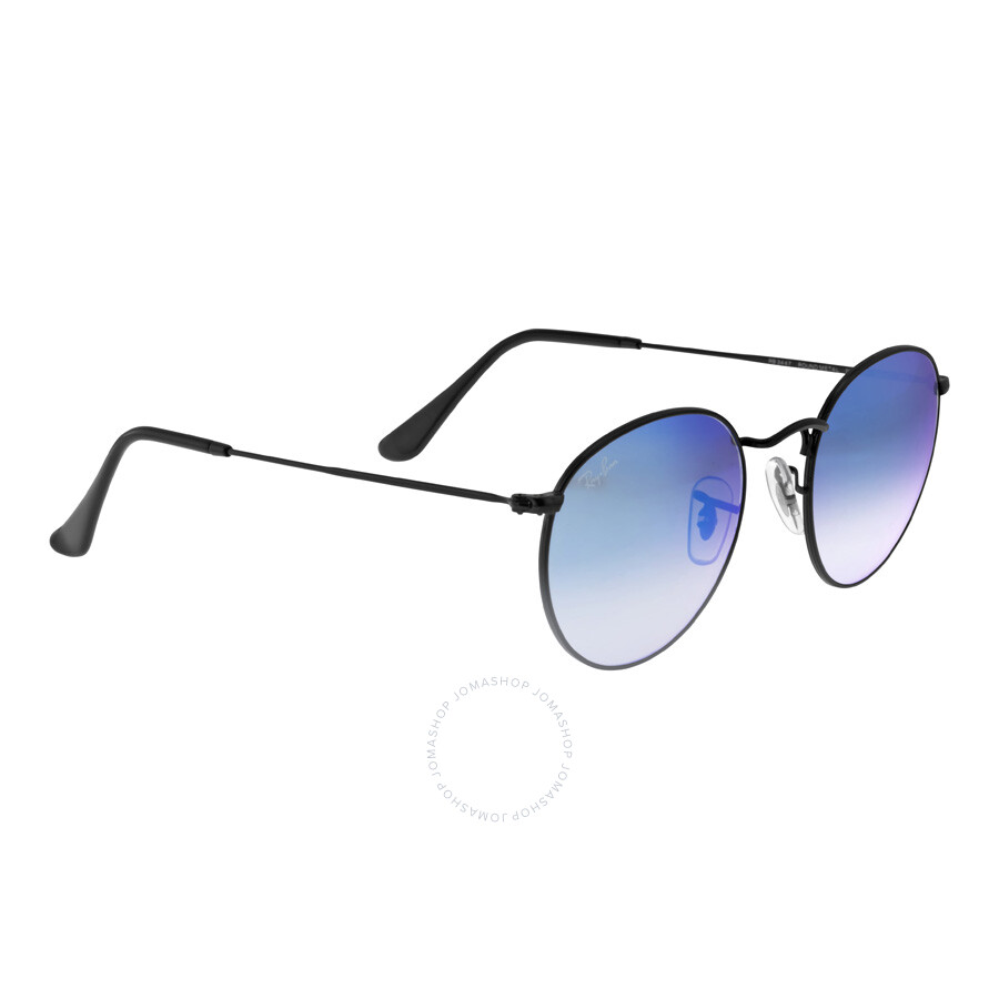 09de9a6844c Ray-Ban Round Blue Gradient Flash Sunglasses RB3447-002-4O-50 - Ray ...
