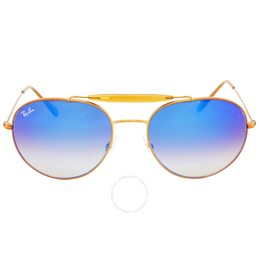 6123d3b7d6639 Ray Ban Round Blue Gradient Flash Sunglasses Item No. RB3540 198 8B 56-18
