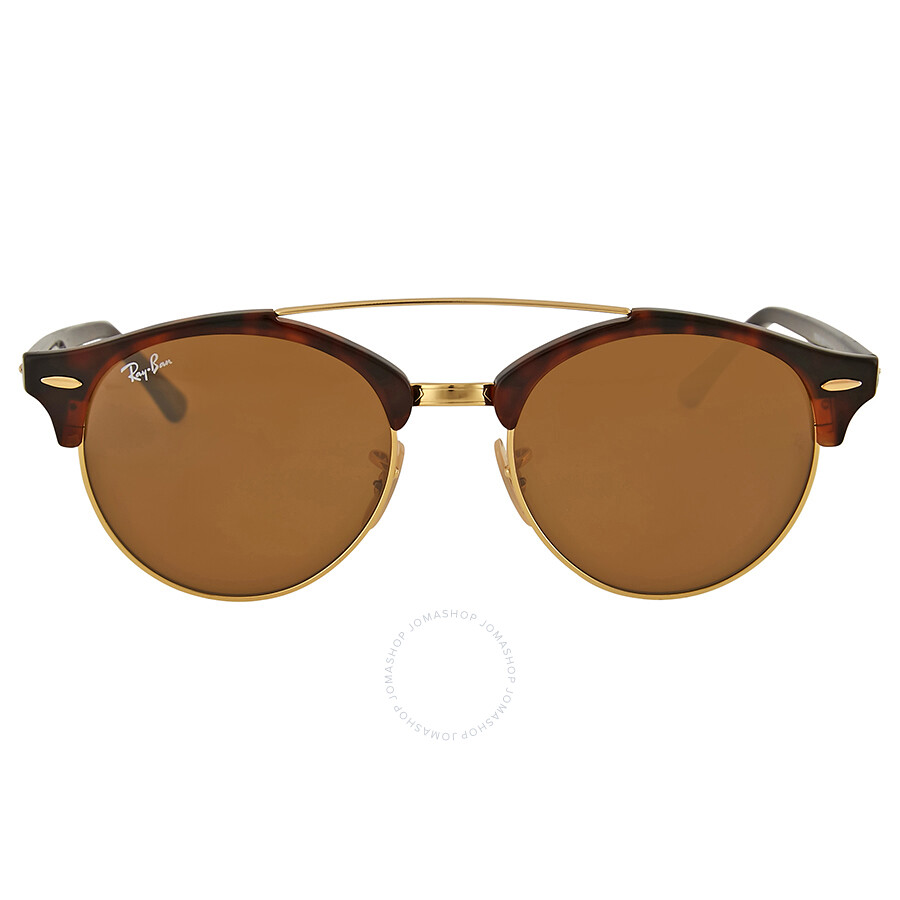 1b2907e1492fa5 Ray Ban Clubround Double Bridge Tortoise Sunglasses - Clubround ...
