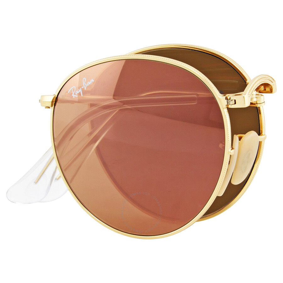Ray Ban Round Copper Flash Gold Tone Sunglasses - Round ...