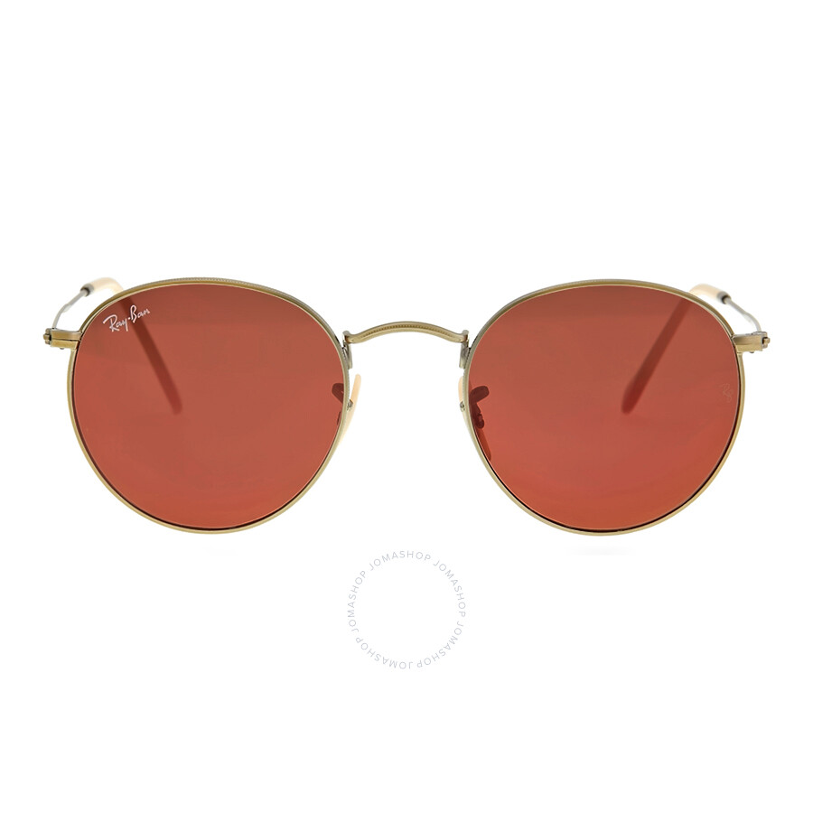 593fa22c36f Ray-Ban Round Copper Flash Sunglasses RB3447 167 2K 50 - Round - Ray ...