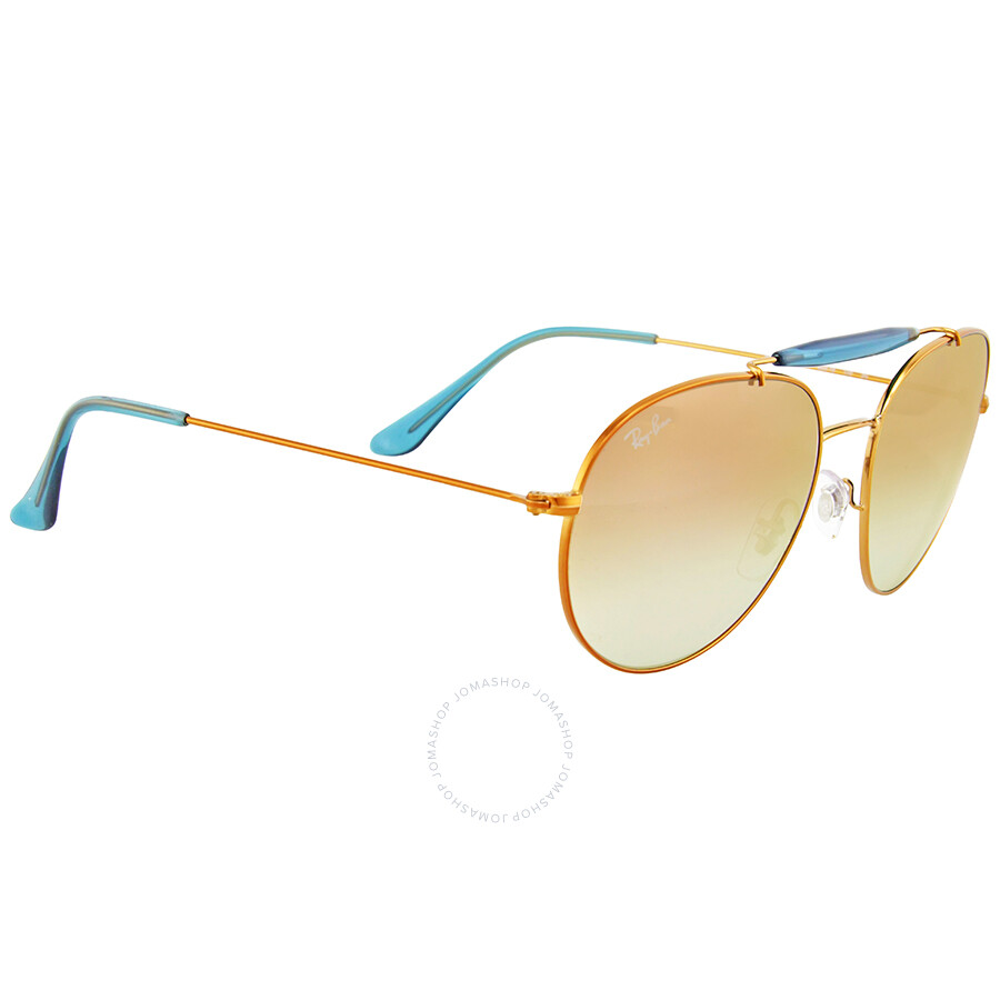 9295b482ee Ray Ban Round Copper Gradient Flash Sunglasses RB3540-198 7Y-56 ...