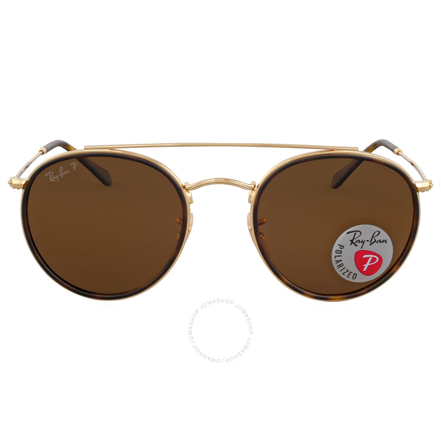 2021bd4547 Ray Ban Round Double Bridge Polarized Sunglasses Item No. RB3647N 001 57 51
